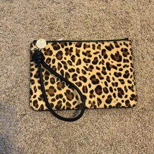 Loft Leopard Wristlet Wallet